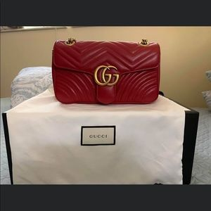 Gucci Marmont Red Small 100% Authentic